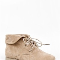 Breckelle's SANDY-51 Folded Cuff Desert Booties | Shop Shoes