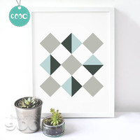 Sample Geometric Shape Canvas Art Print Painting Poster,  Wall Pictures for Home Decoration,  Home Decor YE103