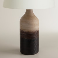 Ombre Wood Table Lamp Base - World Market