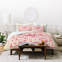 Anderson Design Group Flamingo Pattern Duvet Cover