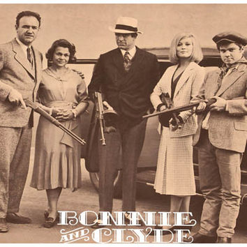 Bonnie and Clyde Movie Cast Poster 11x17