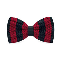 Fashion New Arrival Knitted Crochet Men`s Adjustable Red & Black Striped For Men Party Bussiness