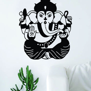 Ganesha Elephant V3 Decal Sticker Wall Vinyl Decor Art Living Room Bedroom Yoga Mandala Spirit Namaste OM