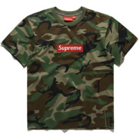 """Supreme""round neck Camouflage BOX short sleeve T-shirt"