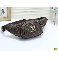 LV Louis Vuitton Fashion Women Men Leather Purse Waist Bag Single-Shoulder Bag Crossbody 2#