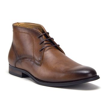Men's E-624 Classic Ankle High Lace Up Chukka Fashion Dress Boots