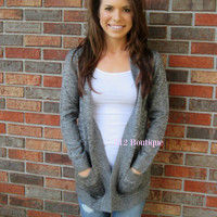 Cafe Cardigan Charcoal