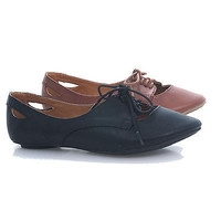 Graben Oxford Flats Loafer Lace Up Round Toe Vintage Round Toe Women Size Shoes