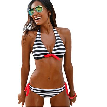 Women Plaid Bikini Swimsuit