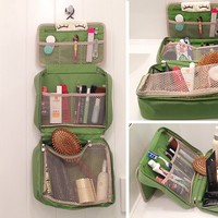 Travel Hanging Toiletry Bag for Cosmetic Makeup Dopp Shaving Kit Organizer Cubes