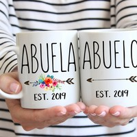 Abuela Abuelo 2019 Mug, Spanish Grandparent Mugs, Pregnancy Reveal To Abuela, Abuela Otra vez, Mug, Gift for Abuela, Spanish baby reveal mug