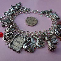 Twilight Inspired Charm Bracelet - Featuring 31 Charms including Framed Page from Book