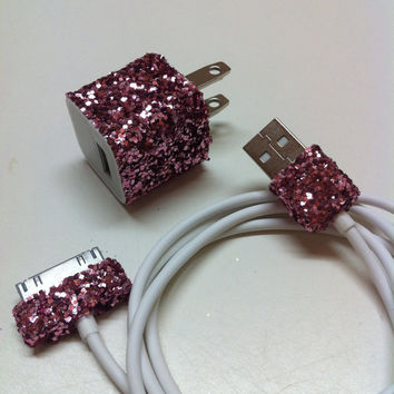 Shop Glitter iPhone Charger on Wanelo