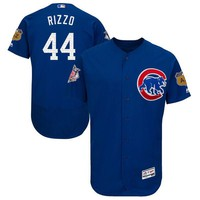 Men's Chicago Cubs Anthony Rizzo Majestic Royal 2017 Spring Training Authentic Flex Base Player Jersey
