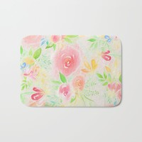 summer flowers Bath Mat by sylviacookphotography