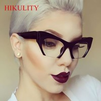 Half Frame Black Cat Eye Sunglasses Women 2018 Ladies Shades Sexy Cateye Sun Glasses Vintage Pink Transparent Sunglasses Female
