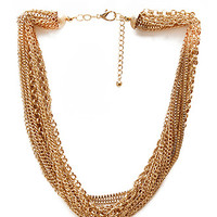 FOREVER 21 Urban Chain Necklace Gold One
