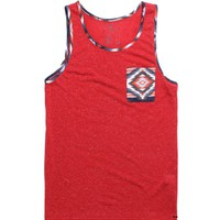 On The Byas Loon Print Tank Top - Mens Tee - Blue - Extra Large