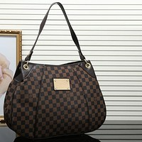 Louis Vuitton LV Women Leather Shoulder Bag Satchel Tote Handbag