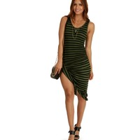 Olive Socialite Striped Dress