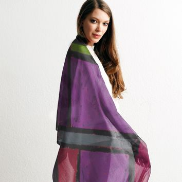 Forms on Purple Scarf