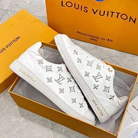 Wearwinds LV Louis Vuitton Fashionable Women Casual Leather Embroidery Sport Shoes Sneakers