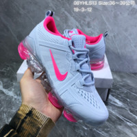 HCXX N889 Nike Air Vapormax 2019 mesh breathable Drop molding Running Shoes Gray Rose Red