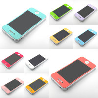 G&J Premium DIESEL color matte screen protector stick case cover for iPhone 4 4S