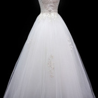KCW1532 Tull A-line Wedding Dress with Chapel Train by Kari Chang Eternal