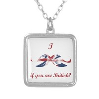 """I Mustache If You Are British"" Grunge Flag Pendant from Zazzle.com"