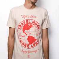 Travel More T-shirt Creme