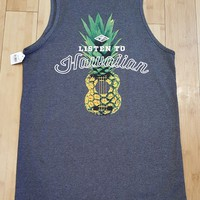 "Local Motion ""Kalapine"" Mens Charcoal Tank Top"