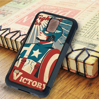 Captain America Captain America art Super Heroes the avengers   For Samsung Galaxy S5 Cases   Free Shipping   AH0298