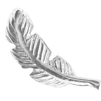 A-Silver Color 16g Right Ear Feather Cartilage Earring Stud-Feather Barbell Cartilage Jewelry-16 gauge Earring