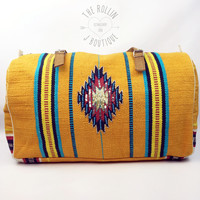 Z&L Yellow & Turquoise Blanket Bag
