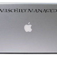 Mischief Managed Decal / Harry Potter Decal / Macbook Decal / Laptop Sticker / Laptop Decal / Harry Potter Sticker