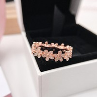 DCCK2 117 Pandora Little Daisy Rose Gold Ring