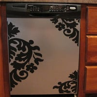 Appliance Vinyl Decal-Large Damask