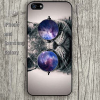 Star glasses cat iphone 6 6 plus iPhone 5 5S 5C case Samsung S3,S4,S5 case Ipod Silicone plastic Phone cover Waterproof