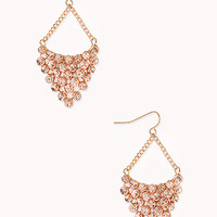 Glam Rhinestone Drop Earrings