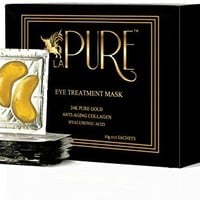 LA PURE 24K Gold Eye Treatment Mask, 15 Pairs (Pack of 1)