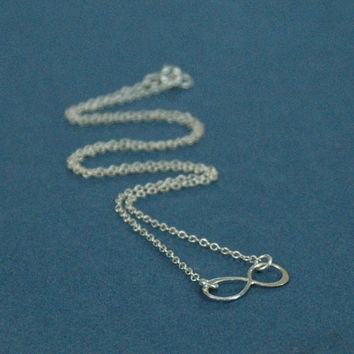 Sterling Silver Infinity Necklace, Infinity Ring Necklace, Silver Infinity Ring, Silver Infinity Charm, Wedding Jewelry, Teen Necklace