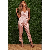 Smooth As Silk Jumpsuit (Blush)