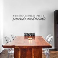 Fondest Memories Wall Quote Decal