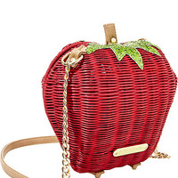 KITCHI STRAWBERRY CROSSBODY RED