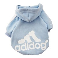 Zehui Pet Dog Cat Sweater Puppy T Shirt Warm Hoodies Coat Clothes Apparel Blue S
