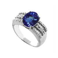 2.35ct. Tanzanite vs. diamond ring in 14k gold