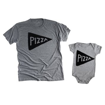 Dad Baby Pizza Shirt and Onesuit