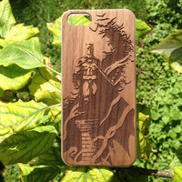 Batman iPhone Case Wood iPhone 6 6plus / 5 5s / 4 4s Case Batman Arkham Knight Inspired Marvel Superhero Comic Gift