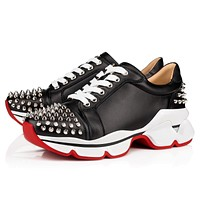 christian louboutin[CL] Increase Comfortable Rivet Daddy Sports Shoes-3